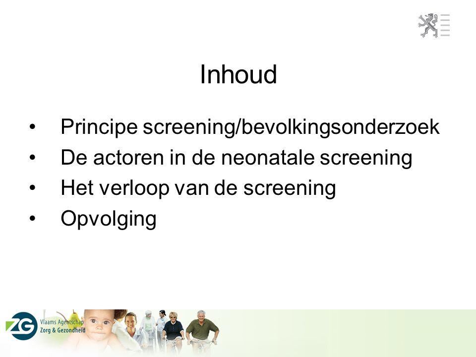 Inhoud Principe screening/bevolkingsonderzoek