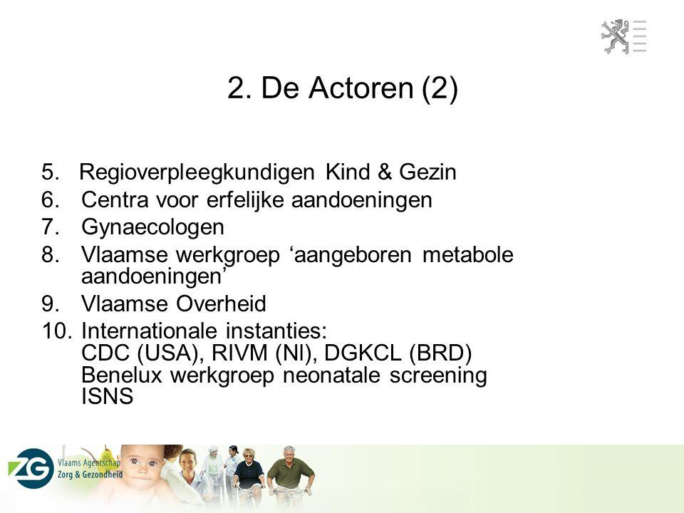 2. De Actoren (2) 5. Regioverpleegkundigen Kind & Gezin