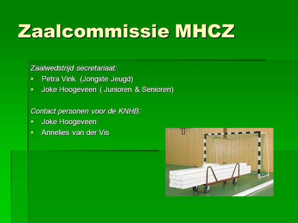 Zaalcommissie MHCZ Zaalwedstrijd secretariaat: