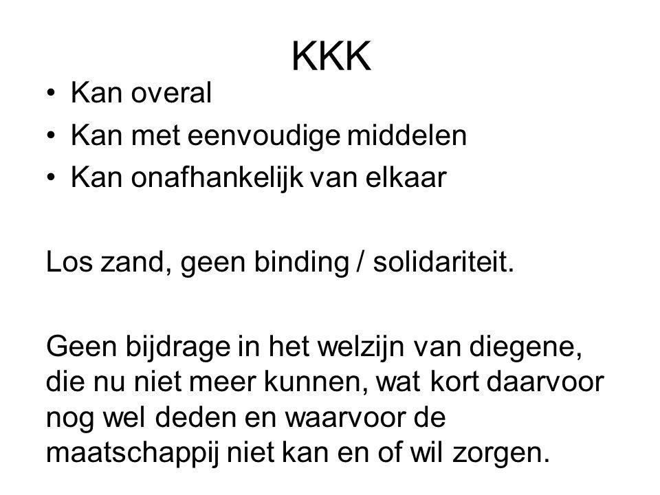KKK Kan overal Kan met eenvoudige middelen