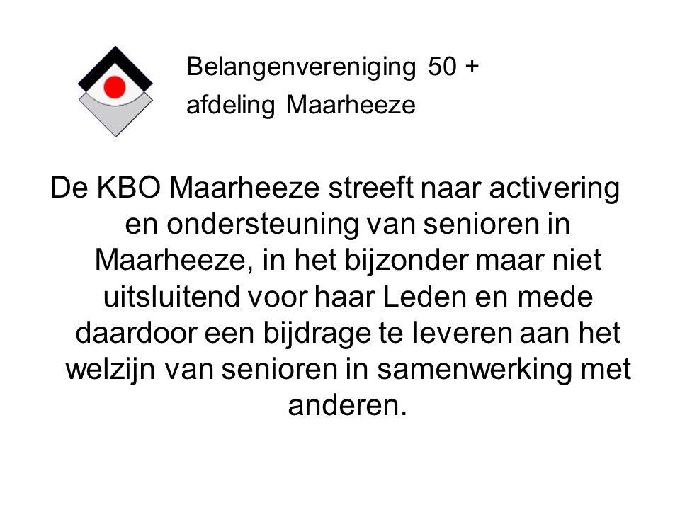 Belangenvereniging 50 + afdeling Maarheeze.