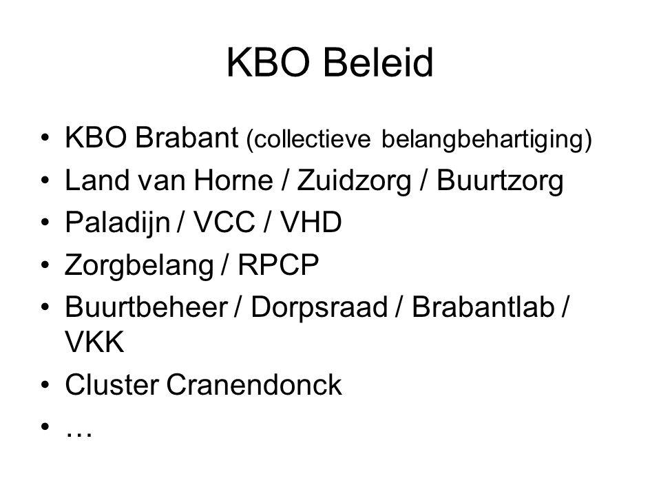 KBO Beleid KBO Brabant (collectieve belangbehartiging)
