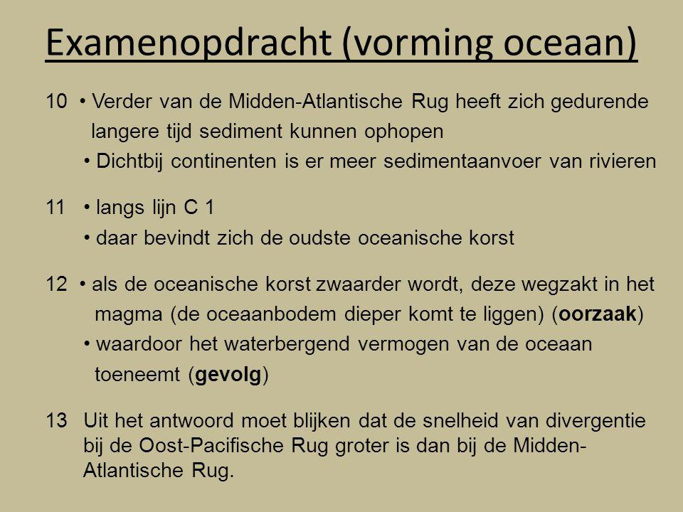 Examenopdracht (vorming oceaan)