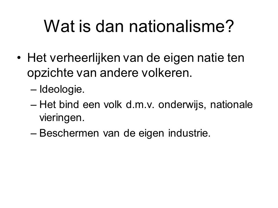 Wat is dan nationalisme