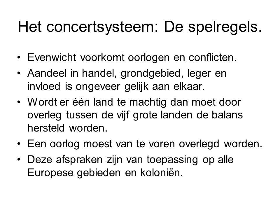 Het concertsysteem: De spelregels.