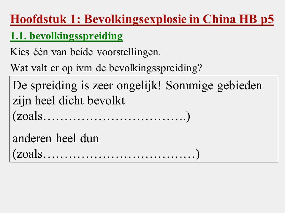 Hoofdstuk 1: Bevolkingsexplosie in China HB p5
