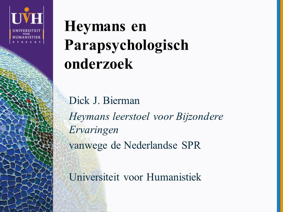 Heymans en Parapsychologisch onderzoek
