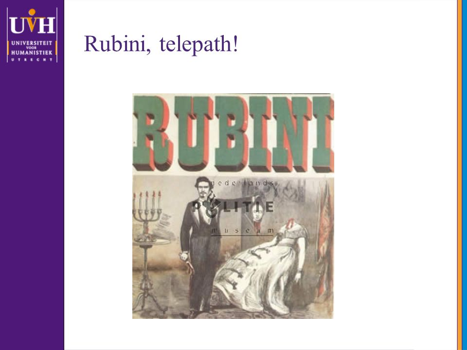 Rubini, telepath! Dit is wat ik vond op de website van het politiemuseum. Waarom het politiemuseum