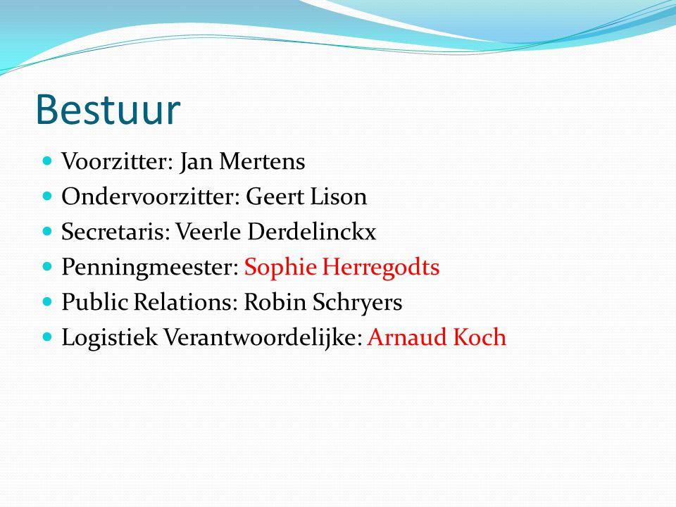Bestuur Voorzitter: Jan Mertens Ondervoorzitter: Geert Lison