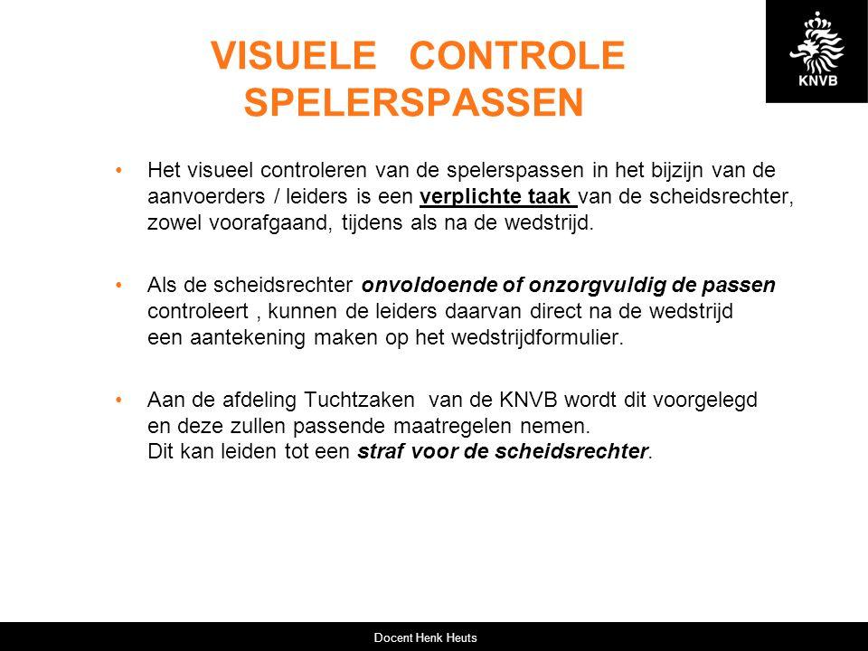VISUELE CONTROLE SPELERSPASSEN
