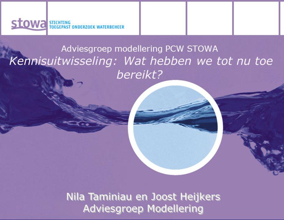 Nila Taminiau en Joost Heijkers Adviesgroep Modellering