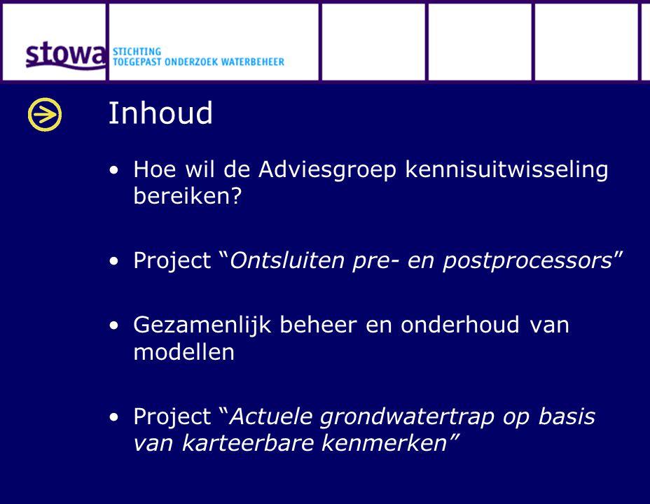 Inhoud Hoe wil de Adviesgroep kennisuitwisseling bereiken