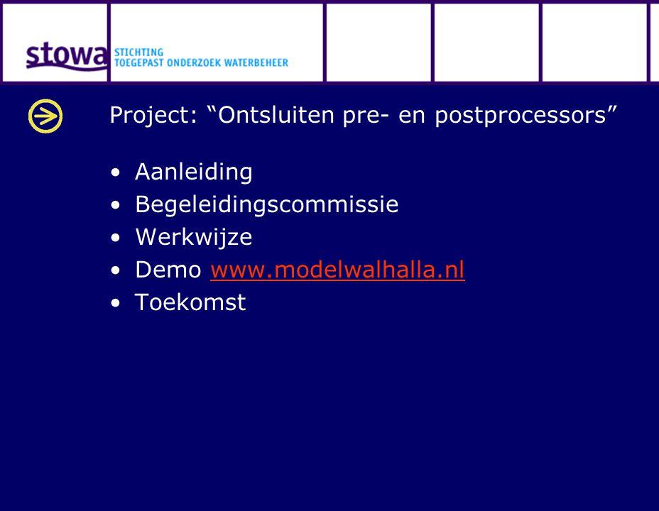 Project: Ontsluiten pre- en postprocessors