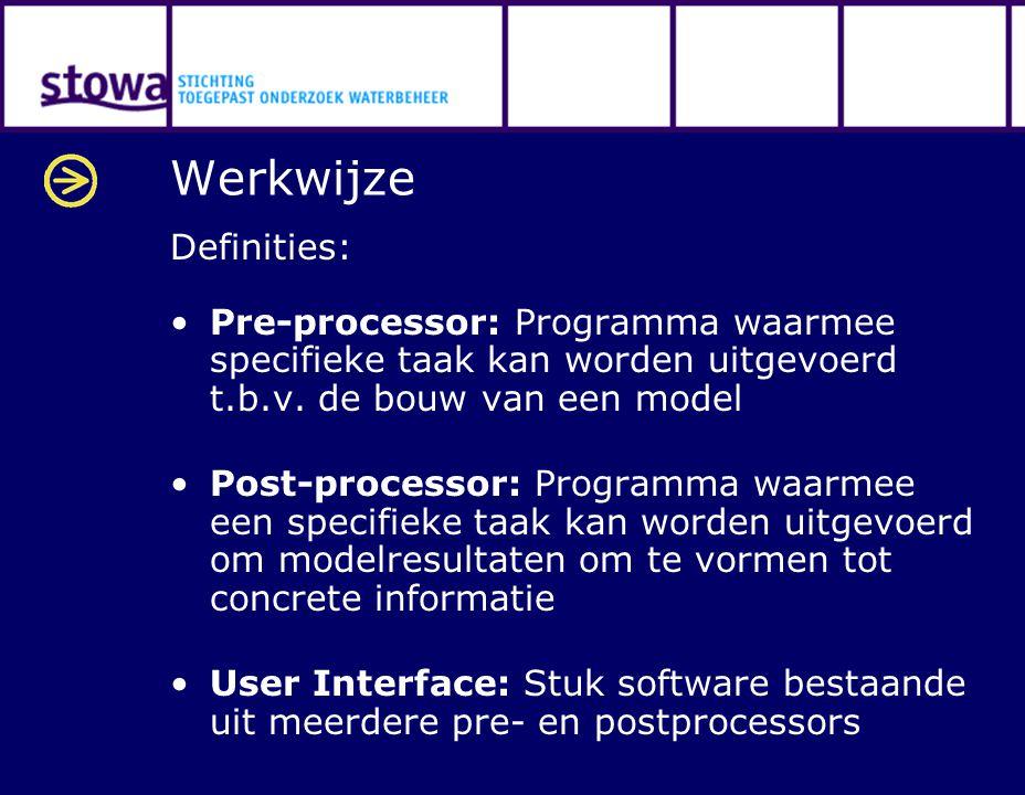 Werkwijze Definities: