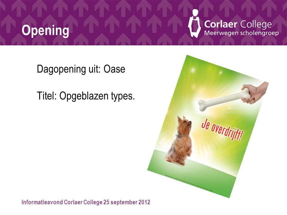 Opening Dagopening uit: Oase Titel: Opgeblazen types.
