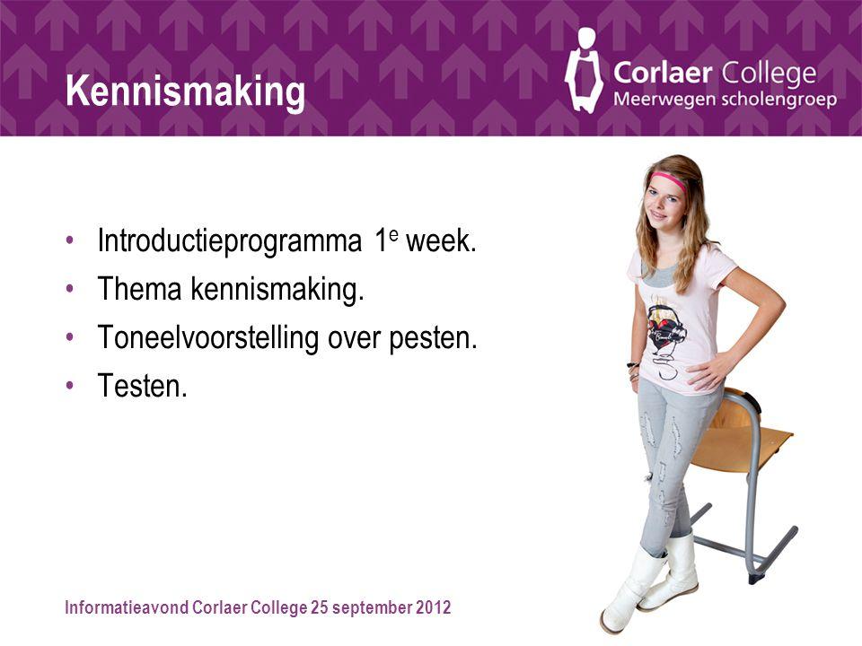 Kennismaking Introductieprogramma 1e week. Thema kennismaking.