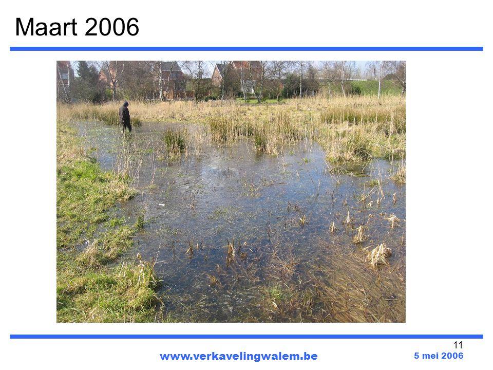 Maart 2006 www.verkavelingwalem.be 5 mei 2006