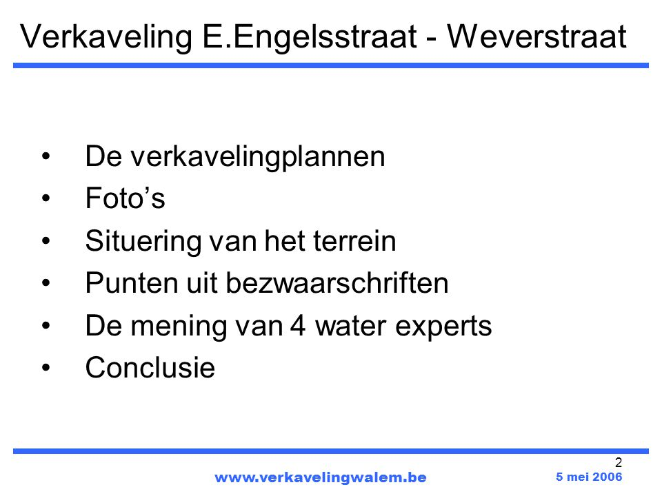 Verkaveling E.Engelsstraat - Weverstraat