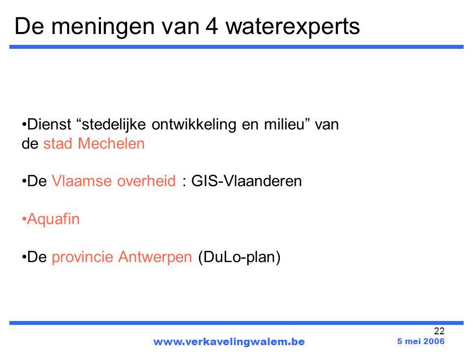 De meningen van 4 waterexperts
