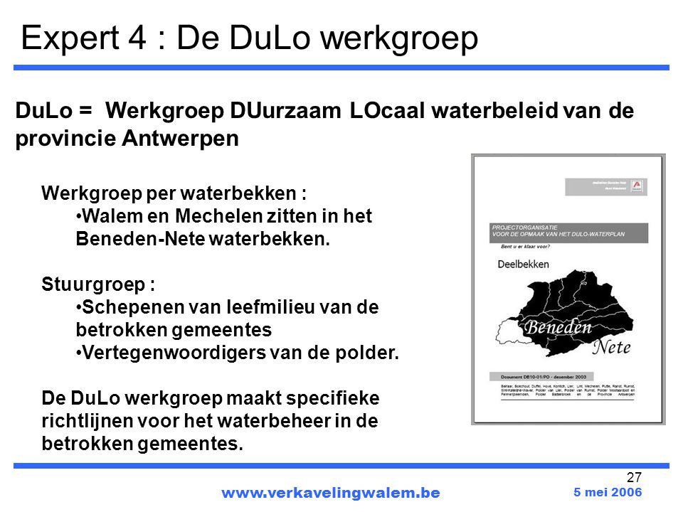 Expert 4 : De DuLo werkgroep