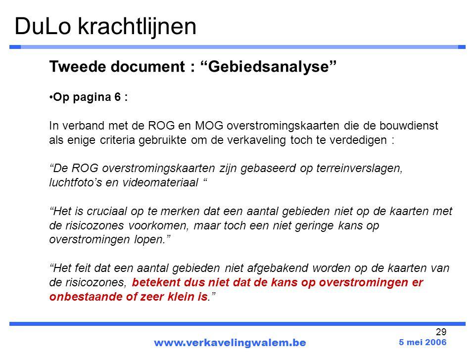 DuLo krachtlijnen Tweede document : Gebiedsanalyse Op pagina 6 :