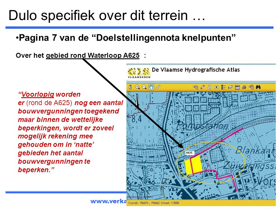 Dulo specifiek over dit terrein …