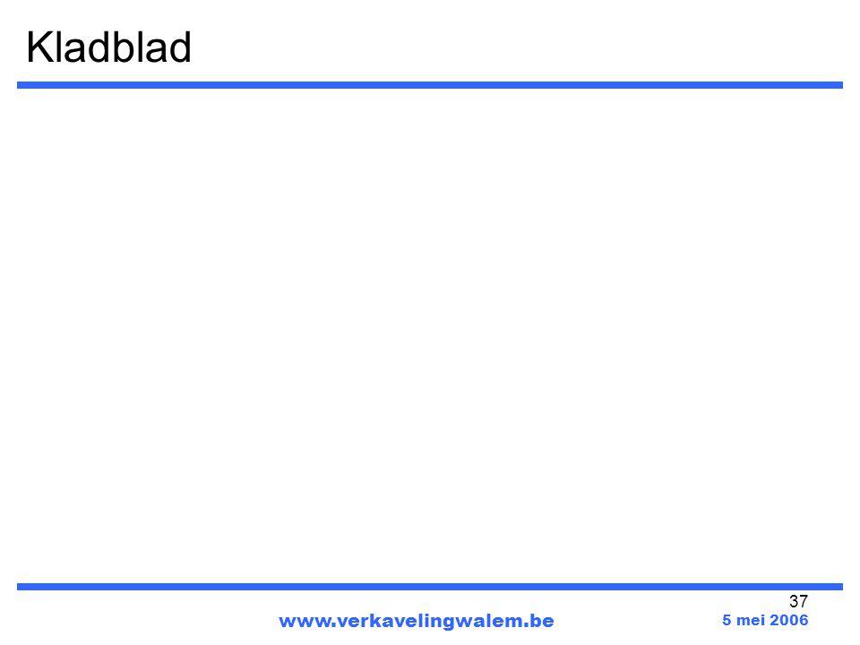 Kladblad www.verkavelingwalem.be 5 mei 2006