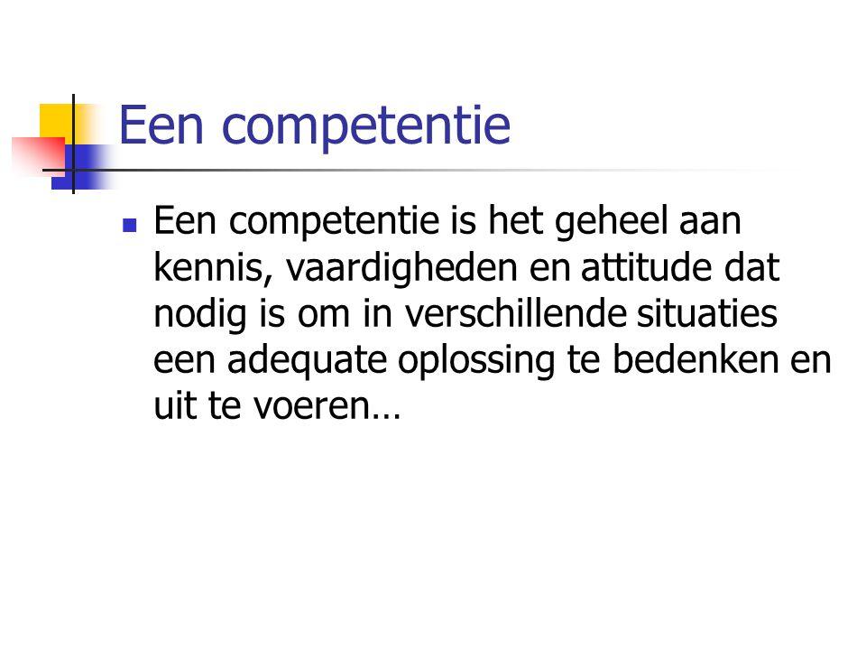 Een competentie