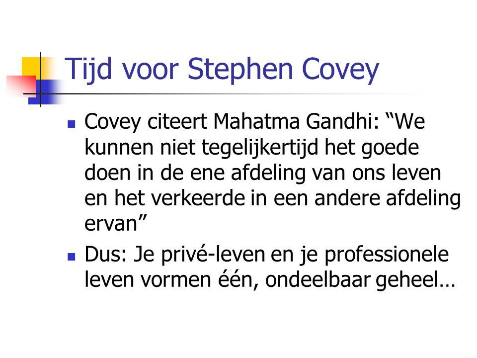 Tijd voor Stephen Covey