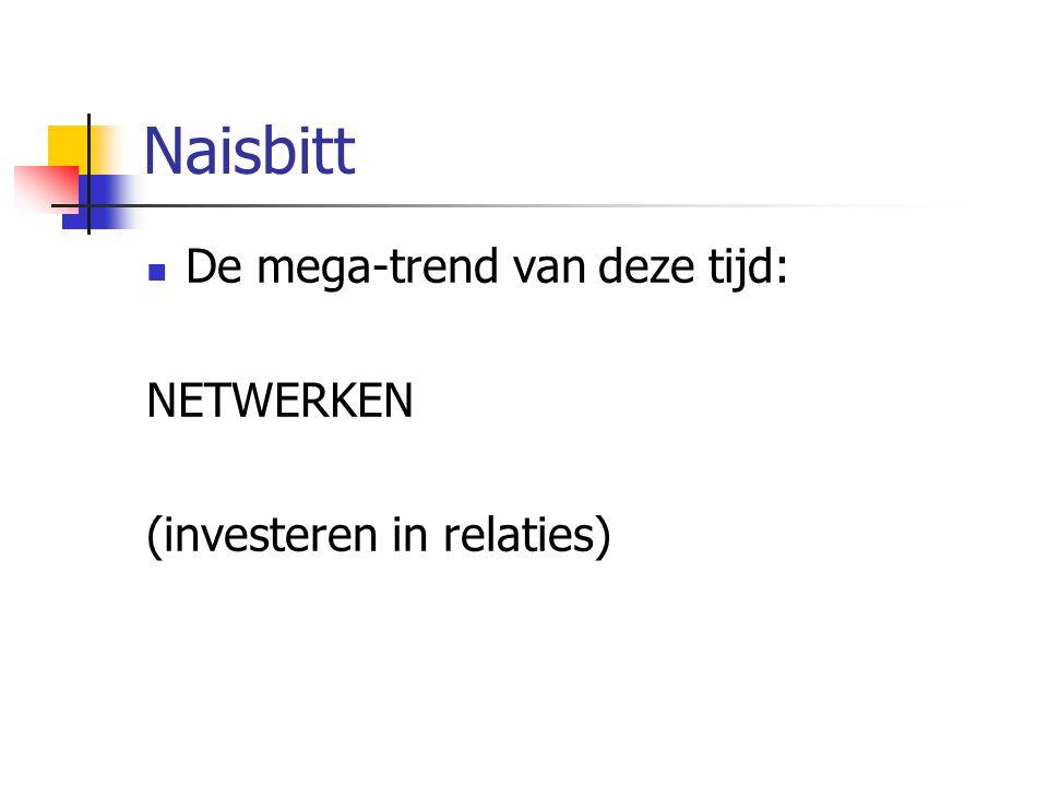 Naisbitt De mega-trend van deze tijd: NETWERKEN