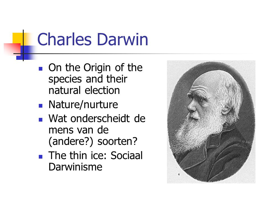 Charles Darwin On the Origin of the species and their natural election