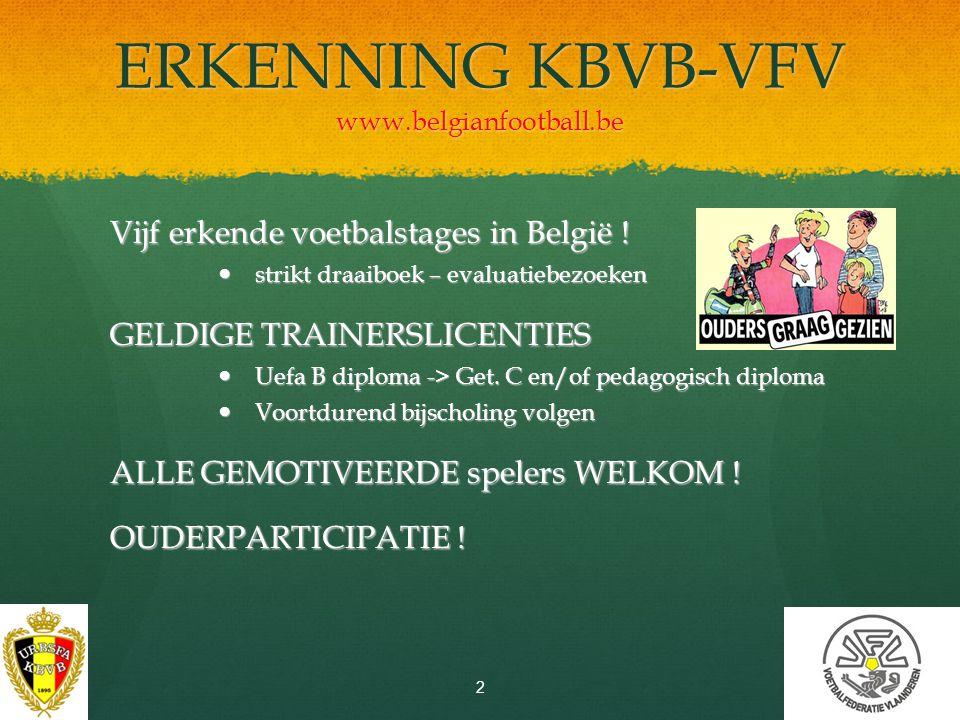 ERKENNING KBVB-VFV www.belgianfootball.be