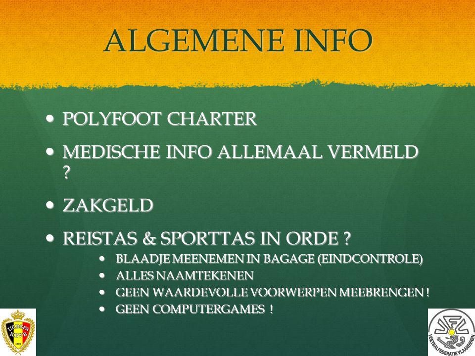 ALGEMENE INFO POLYFOOT CHARTER MEDISCHE INFO ALLEMAAL VERMELD