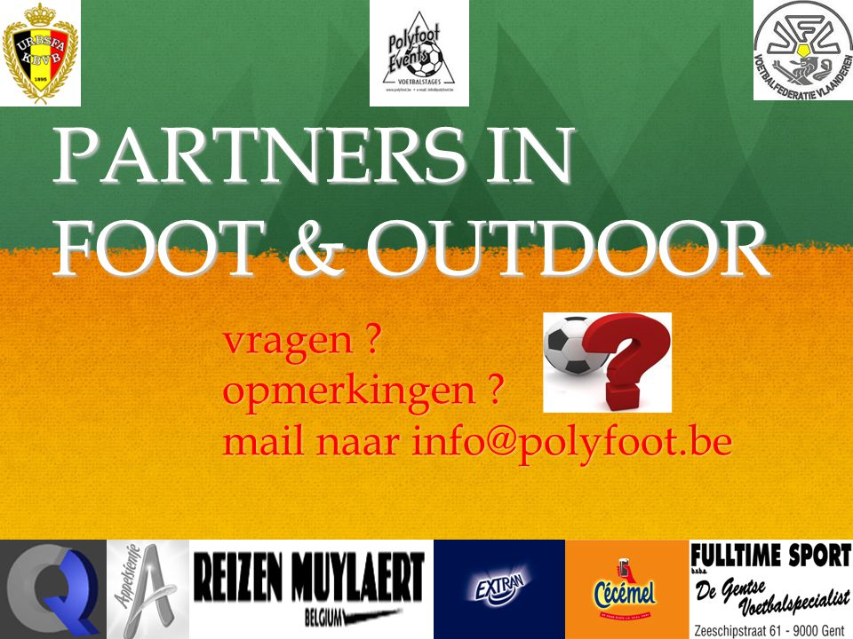 PARTNERS IN FOOT & OUTDOOR