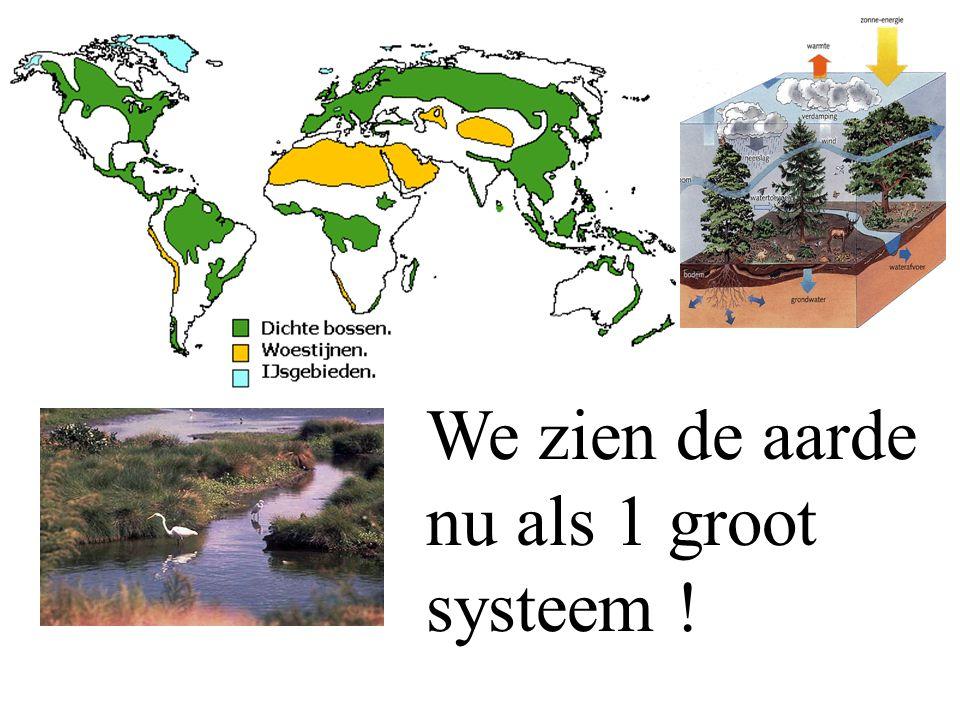 We zien de aarde nu als 1 groot systeem !