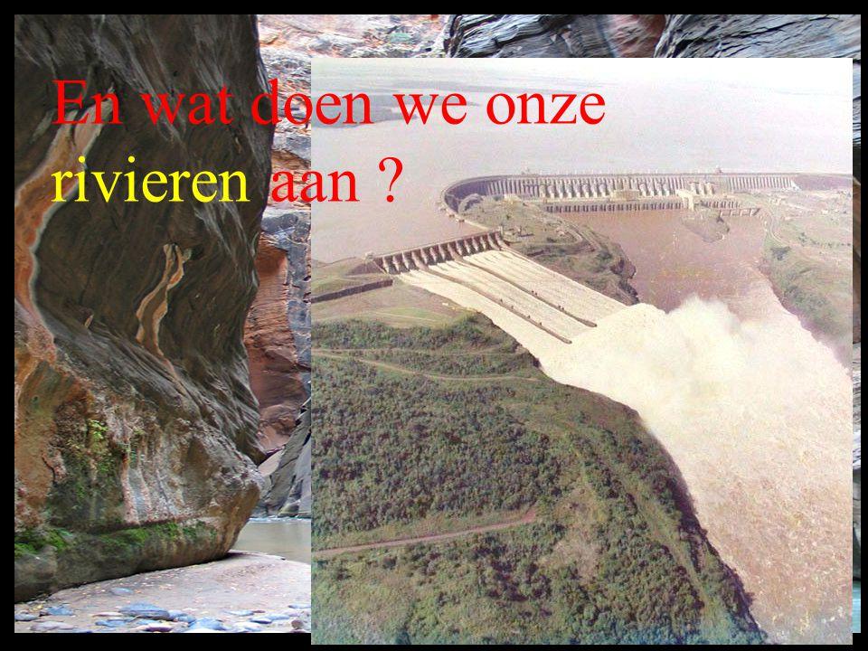En wat doen we onze rivieren aan