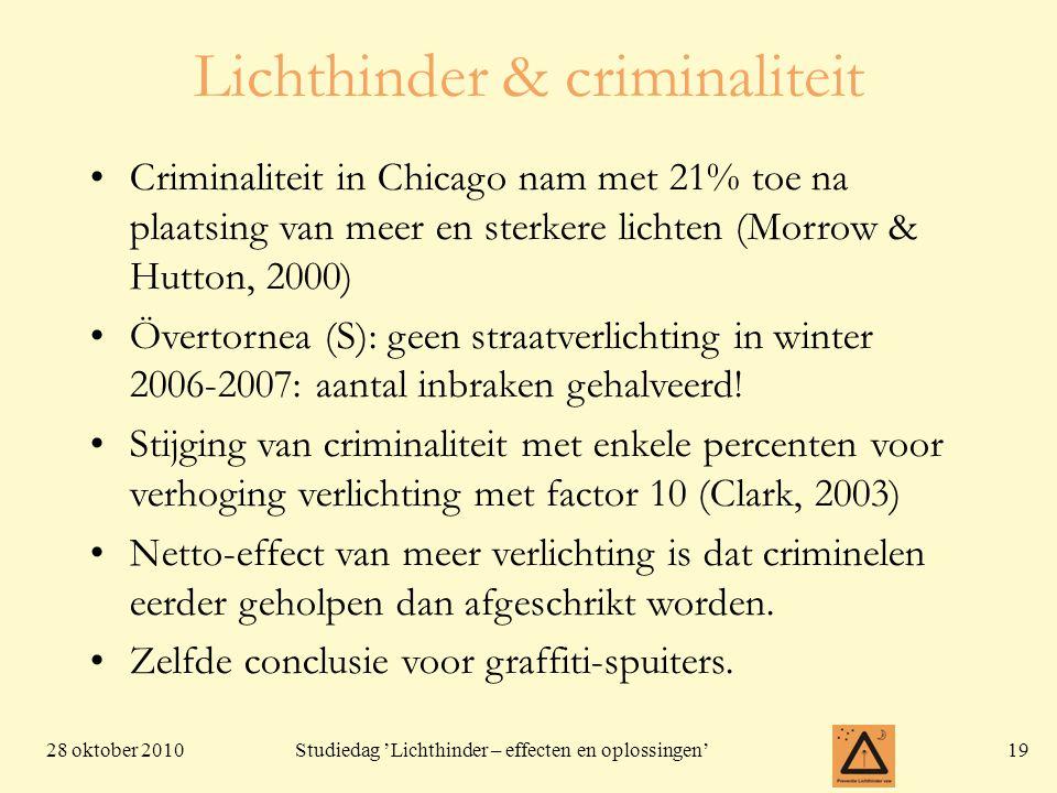 Lichthinder & criminaliteit