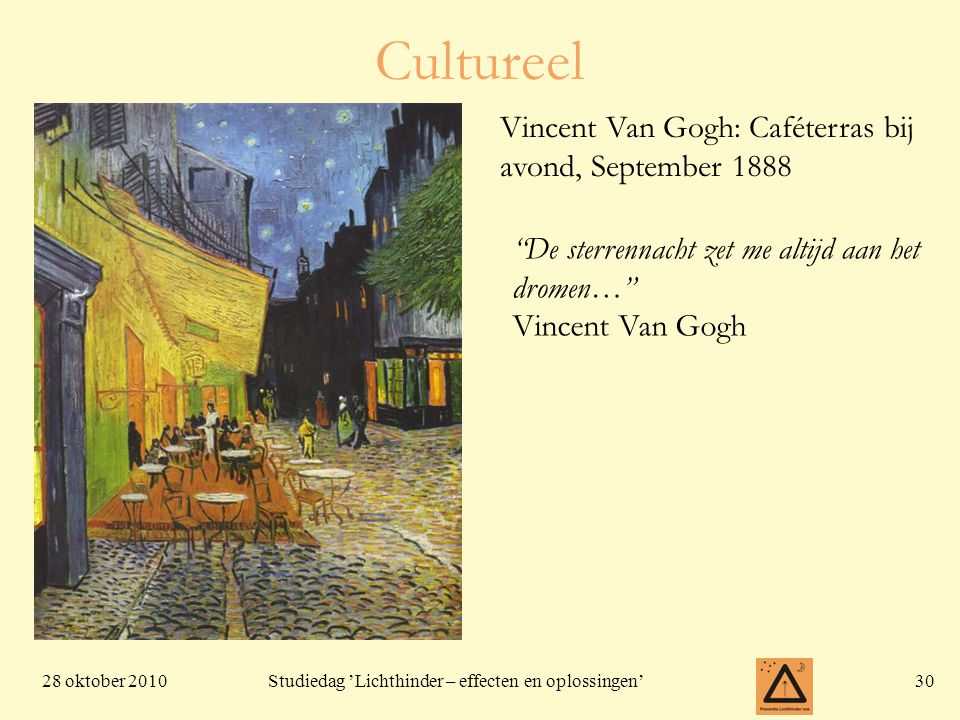 Cultureel Vincent Van Gogh: Caféterras bij avond, September 1888
