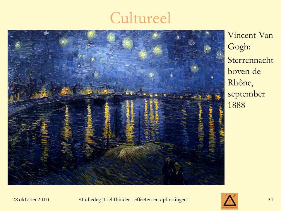 Cultureel Vincent Van Gogh: