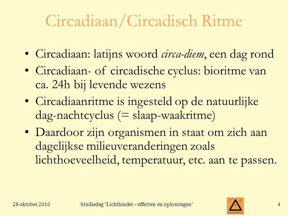 Circadiaan/Circadisch Ritme