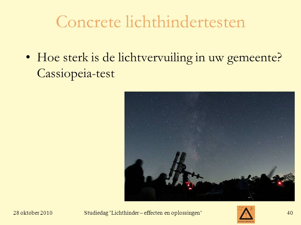 Concrete lichthindertesten