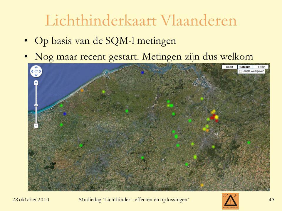 Lichthinderkaart Vlaanderen