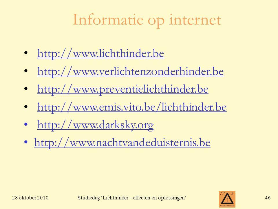 Informatie op internet