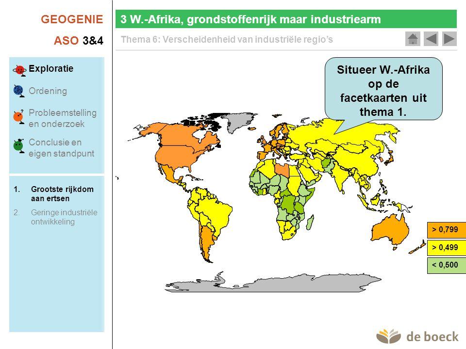 Situeer W.-Afrika op de facetkaarten uit thema 1.