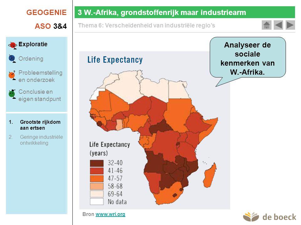 Analyseer de sociale kenmerken van W.-Afrika.