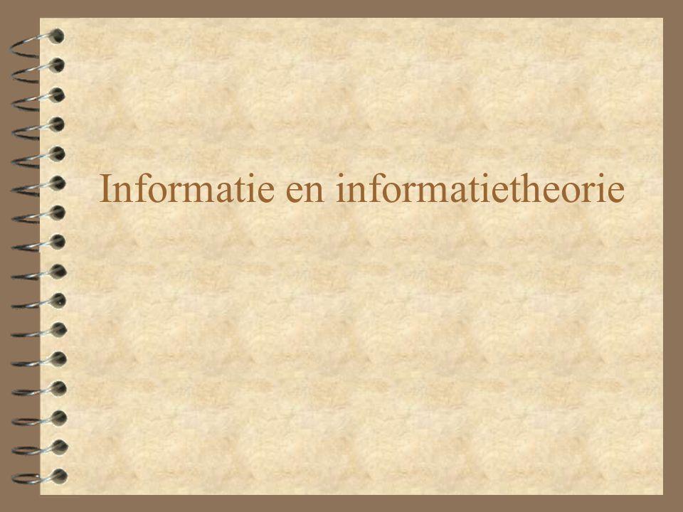 Informatie en informatietheorie