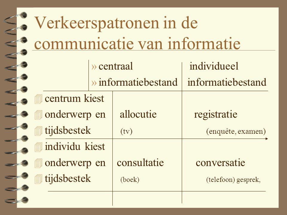 Verkeerspatronen in de communicatie van informatie