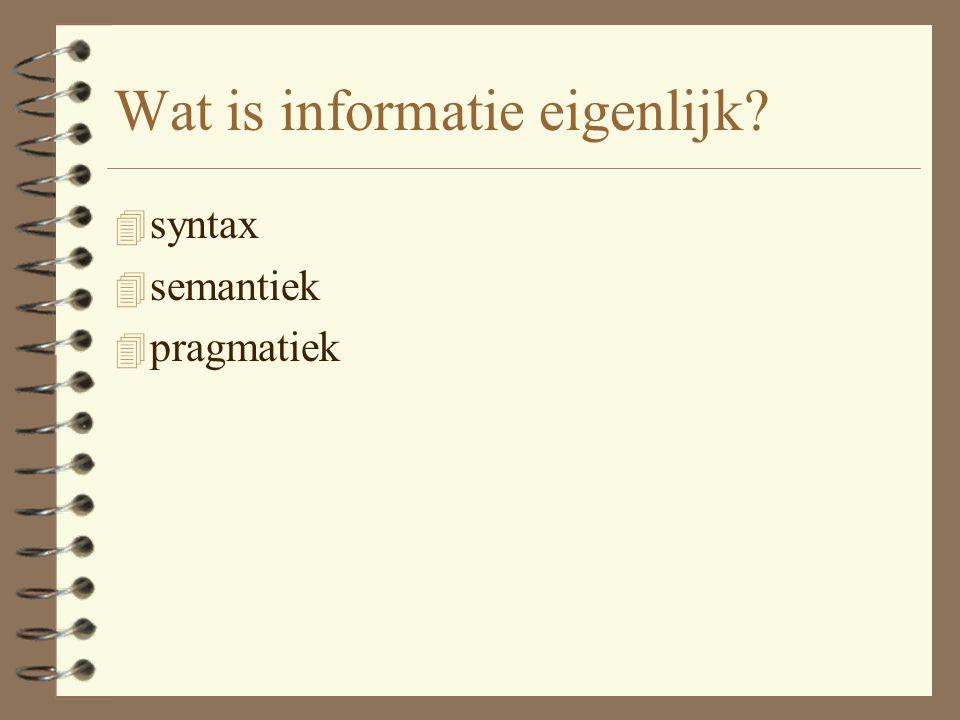 Wat is informatie eigenlijk