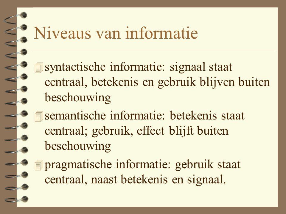 Niveaus van informatie