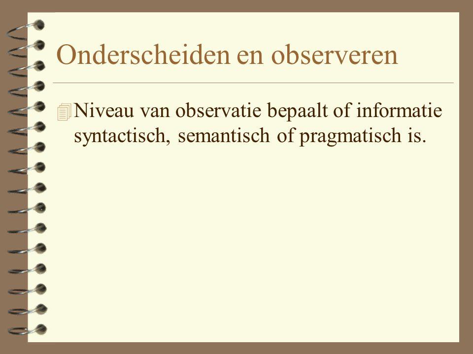 Onderscheiden en observeren